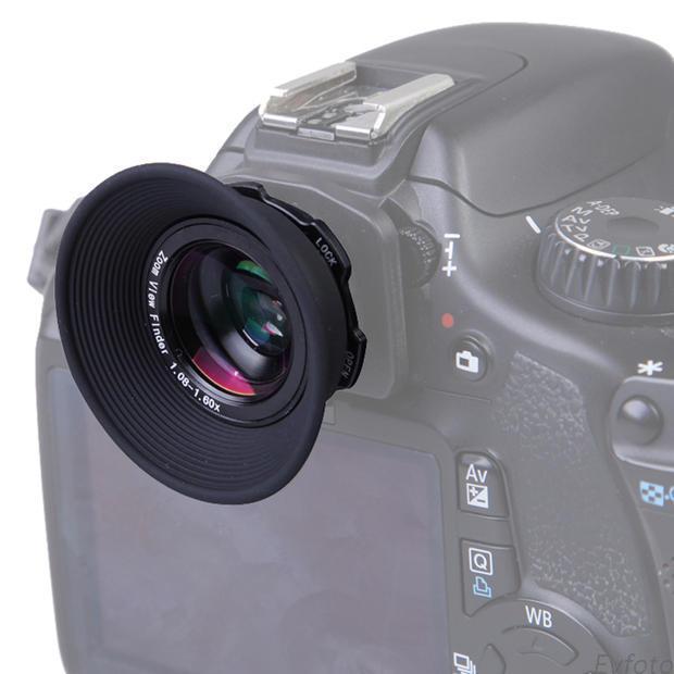 单反相机1.08-1.60X 眼罩接目取景器 目镜放大器通用款接目器