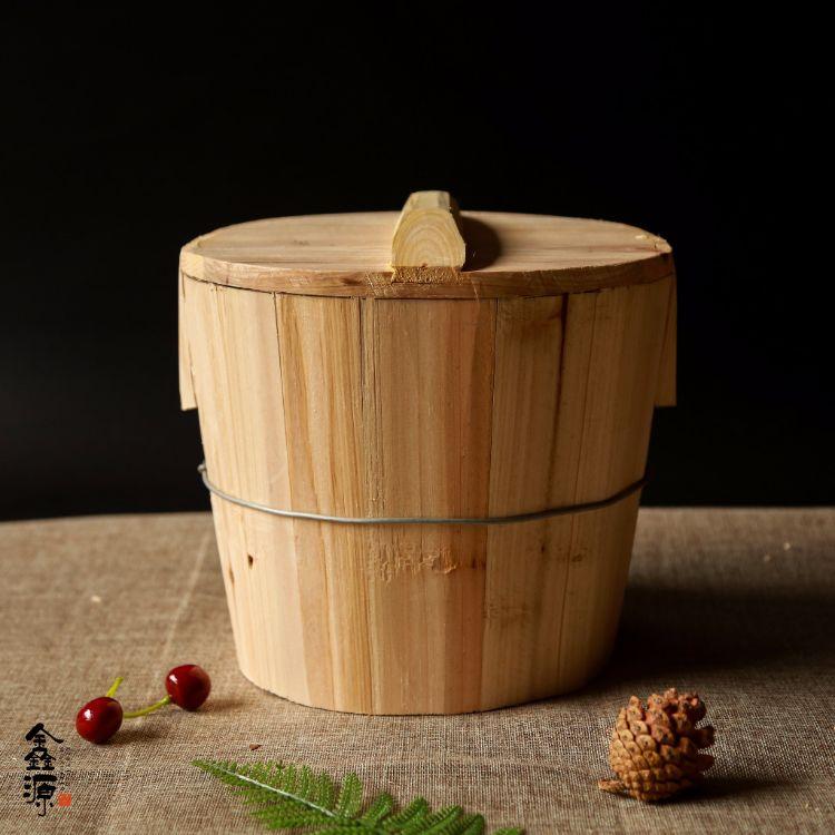 纯手工杉木甄子 蒸饭木桶 厨房食堂餐厅饭桶蒸笼批发