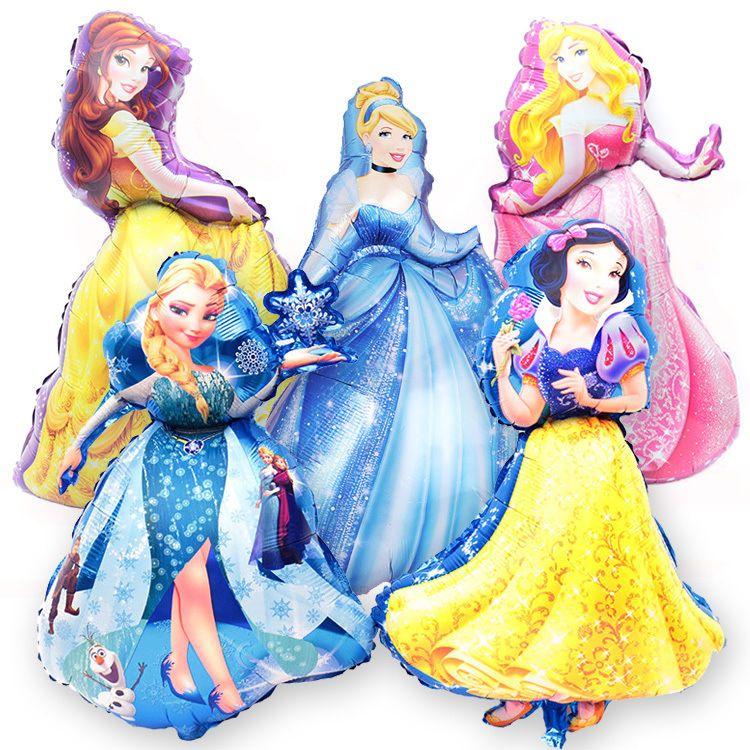 卡通大号可爱五公主铝膜气球 生日派对装饰气球 场景布置