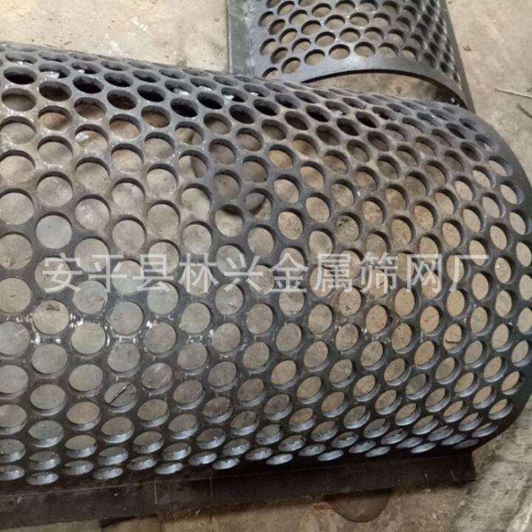 林兴冲孔筛板厂家加工定做破碎机筛网 批发零售重型罗底 折边免焊接