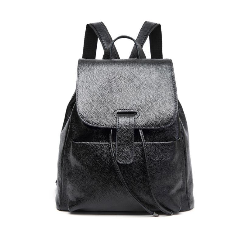 韩版新品真皮女式双肩包头层牛皮休闲经典旅行背包实用学生书包