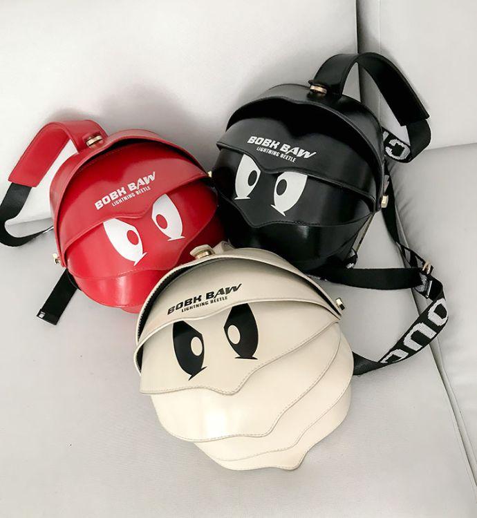 韩版PU眼睛幼儿园儿童包包小背包单肩包潮流卡通可爱儿童斜跨包