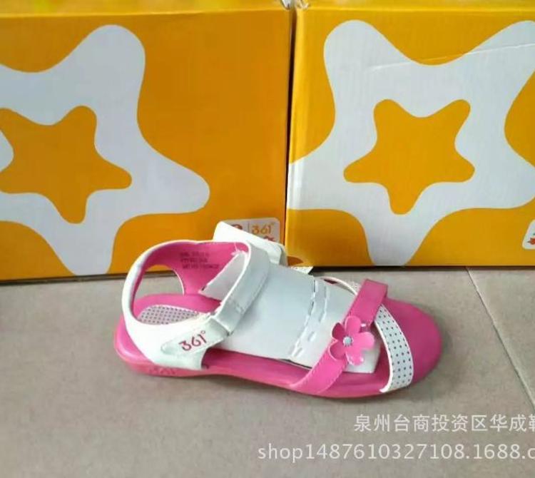 批发正品夏季新款儿童凉鞋 女中童露趾沙滩鞋可爱卡通儿童凉鞋