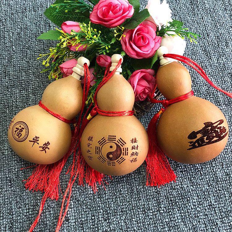 厂家供应天然小号酒葫芦工艺 雕刻工艺品葫芦批发 观音酒葫芦