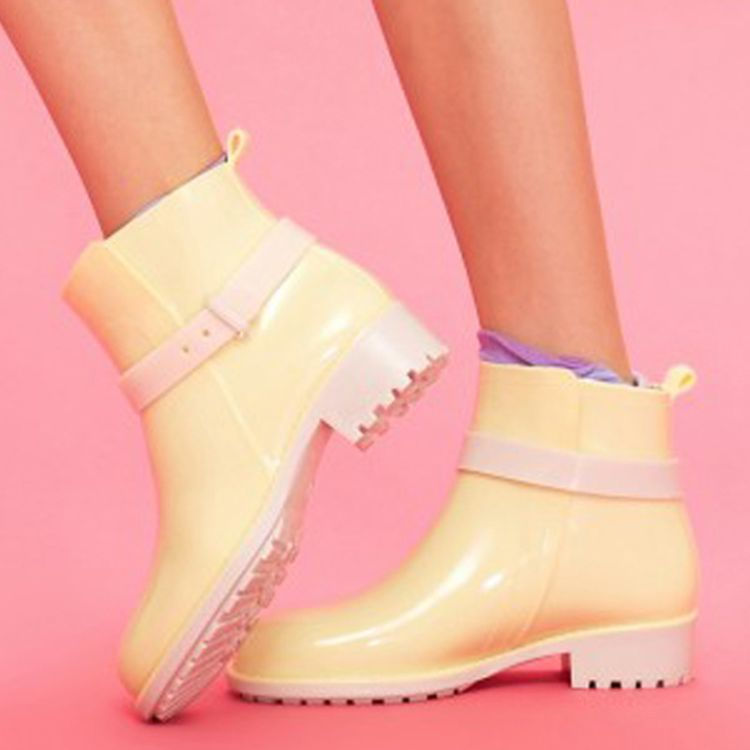 青虹鞋业 2015雨鞋女 时尚短筒马丁雨靴 防滑纯色水靴胶鞋