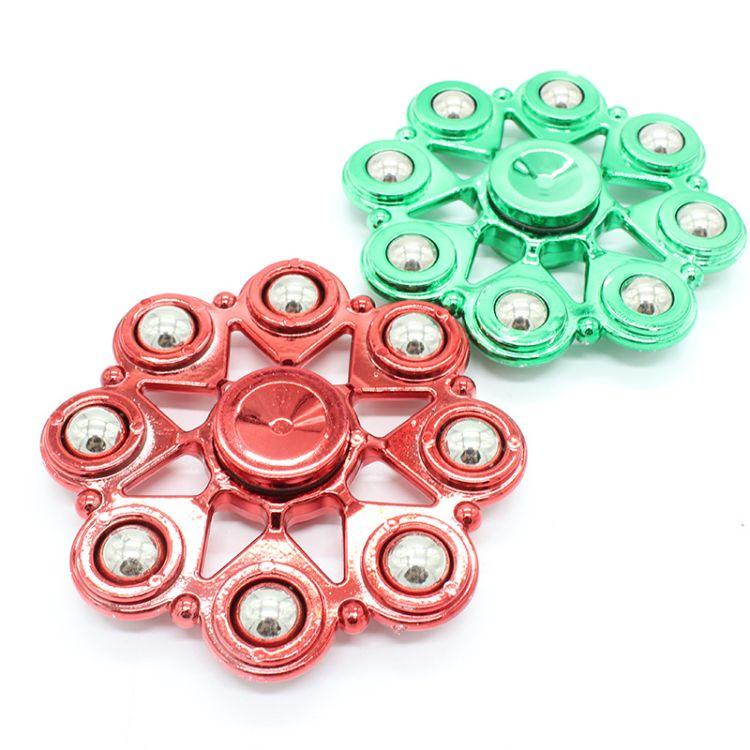 热销款ABS指尖陀螺 8钢珠手指陀螺 厂家直销成人减压玩具