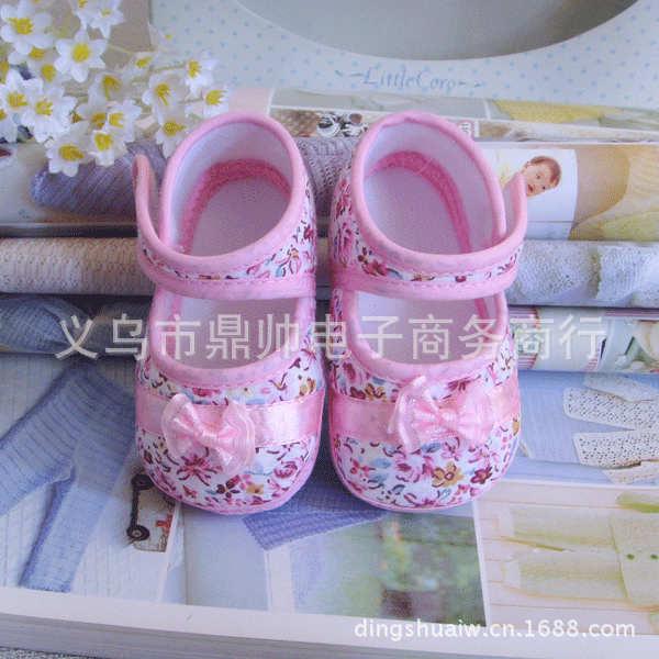 【批发】田园碎花防滑布底宝宝春秋学步鞋透气防滑舒适漂亮婴儿鞋