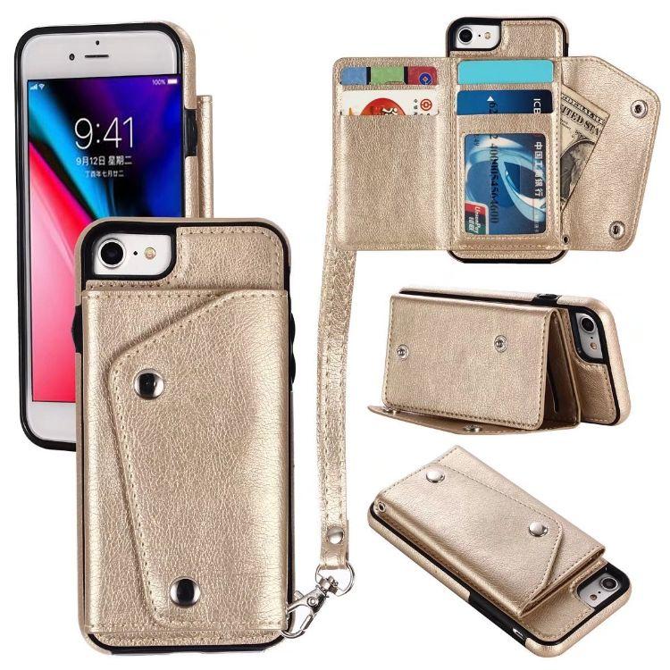 外贸iphoneXr多功能卡包贴皮款支架手机保护套适用三星S9创意防摔