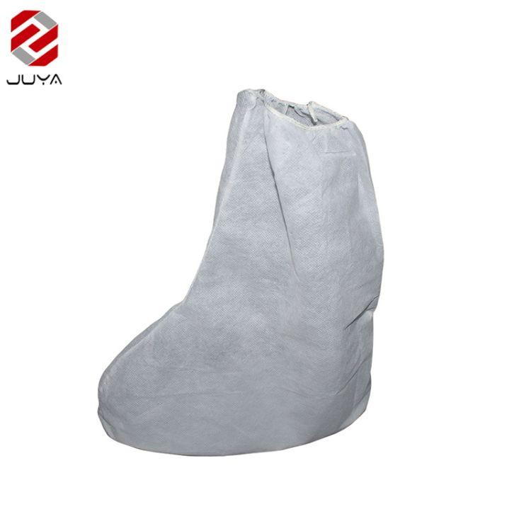 一次性防护松紧带防尘无纺布靴套脚套 批发家用防滑防水全筋靴套