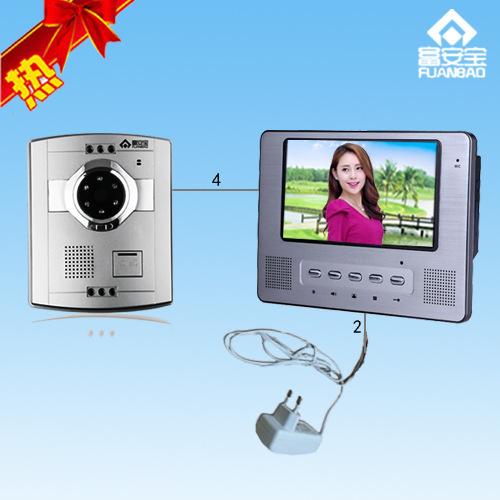 7寸T别墅可视对讲 可视对讲 室内220V供电 可视门铃