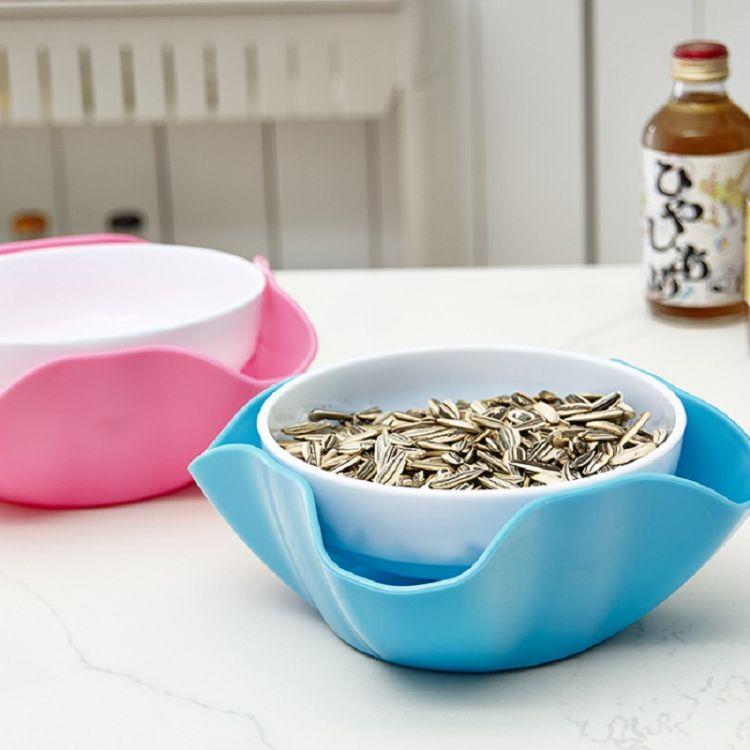 创意小麦果盘现代客厅简约零食瓜子盘糖果盘盒懒人