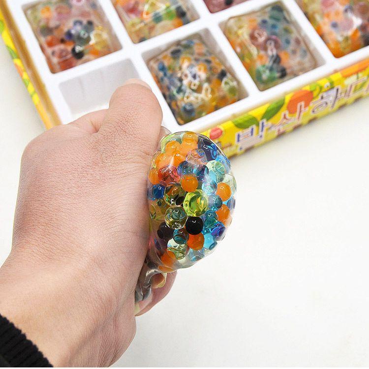 海洋宝宝发泄豆腐葡萄发泄球多色彩珠整蛊整人减压恶搞泡大珠玩具
