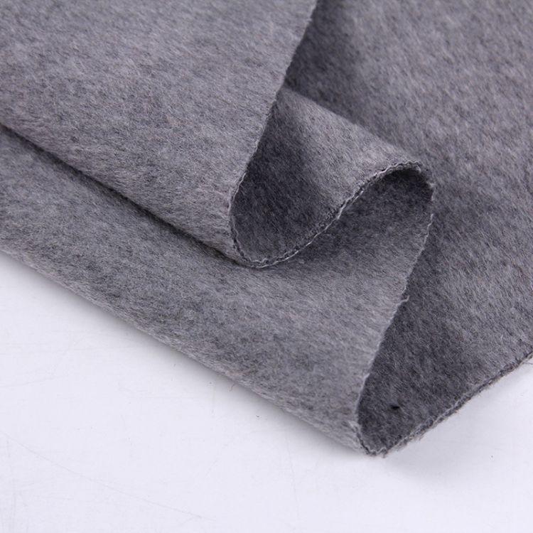 【厂家直销】双层顺毛呢 大衣呢 双层保暖 毛呢羊毛布 外套面料