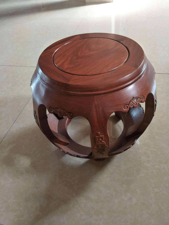 红木家具厂家直销非洲花梨木鼓凳矮凳实木凳仿古纯实木古筝凳