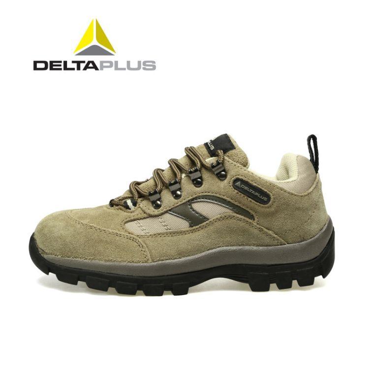 代尔塔301305橡胶牛皮安全鞋防砸防刺穿耐磨劳保鞋耐磨高温透气