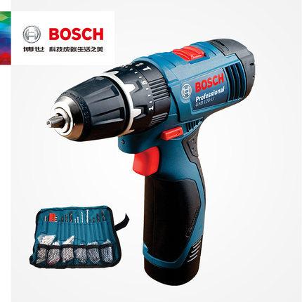 博世12V双电手电钻锂电冲击钻家用充电式电动螺丝刀GSB120-LI