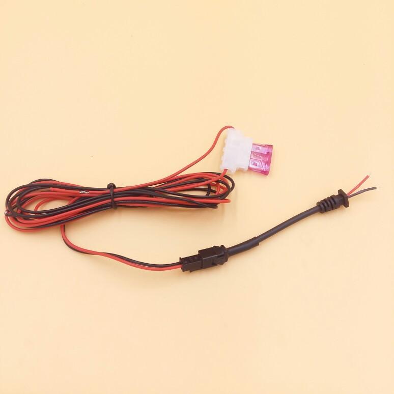 厂家直销TK100SM-2PIN红黑公母对接GPS电源线3A保险盒2芯尾卡线