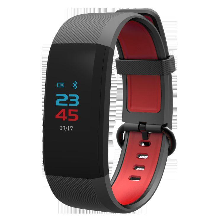 厂家直销新款led智能手环心率血压监测信息推送防水计步运动手表