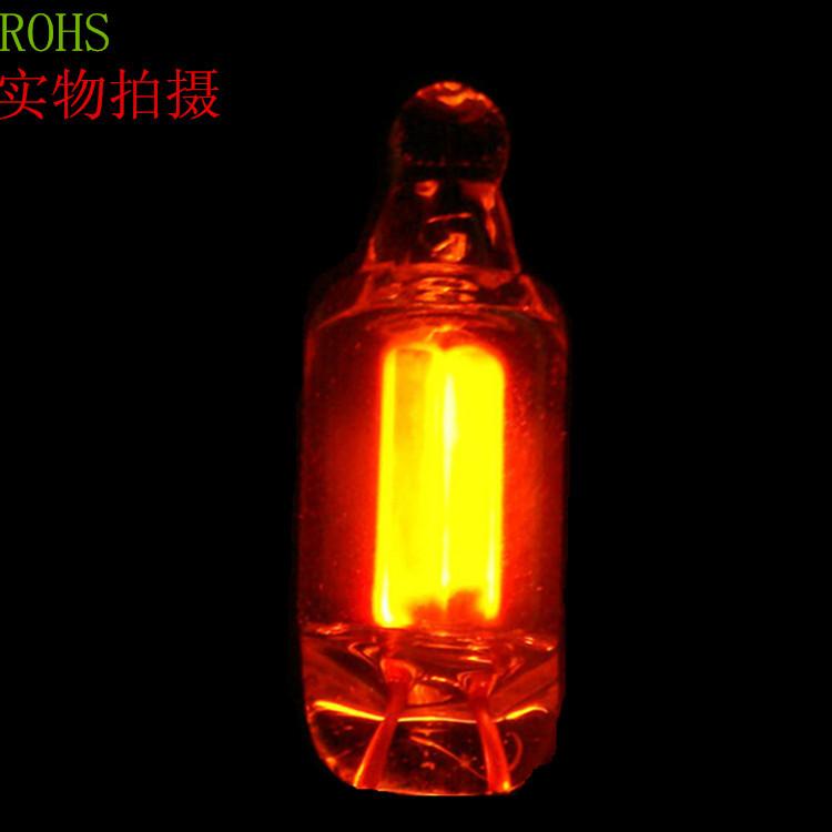 厂家直销  NE-2 5*13 氖灯 氖泡 普亮 红光指示灯