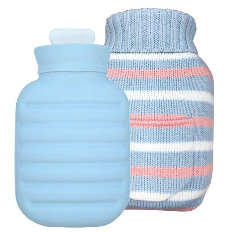 日本爆款硅胶热水袋注水 环保防爆暖宝宝暖手宝 可折叠暖水袋