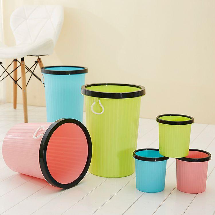 创意塑料垃圾桶厨房卫生间办公室桌面垃圾桶家用塑料桶酒店收纳桶