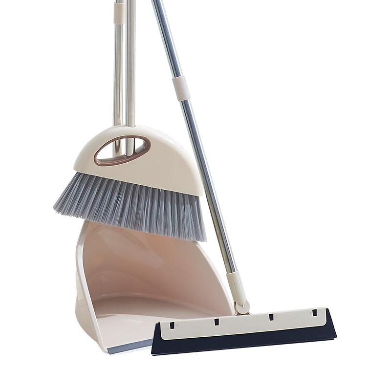 家用不锈钢扫把簸箕套装扫帚清洁套装塑料扫把