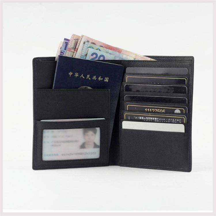 真皮多卡位护照夹 创意多功能牛皮护照包男女钱包证件包定制 logo