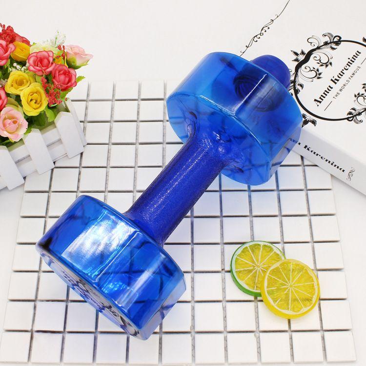 亚马逊畅销健身运动水杯 工厂定制PET塑料哑铃杯