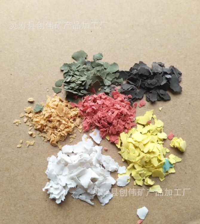 厂家直销 复合岩片 多种颜色 彩色岩片 色泽自然 可寄样调色