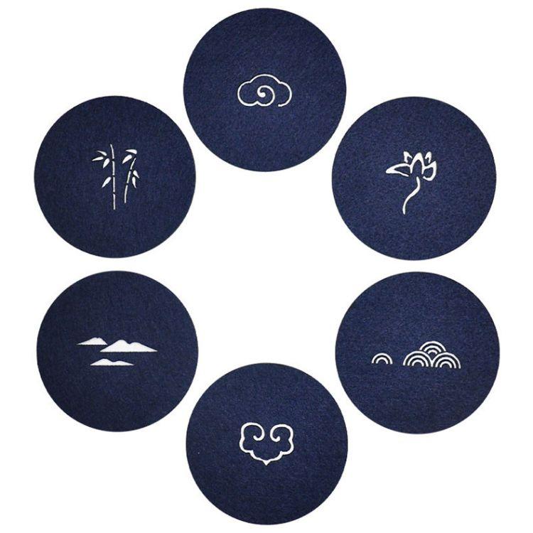 日韩毛毡布垫隔热吸水毛毡杯垫耐高温不变形毛毡杯垫logo来样定做