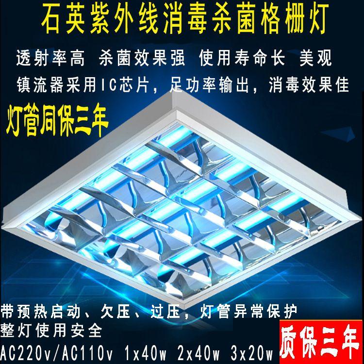 AC165v~AC265v输入足功率输出40w60w80w石英紫外线灯管 预热启动