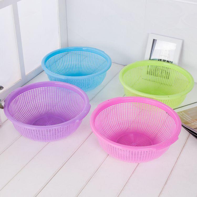 【榕星厂家】塑料圆形厨房沥水筛 加厚淘米盆洗米筛蔬菜水果盆