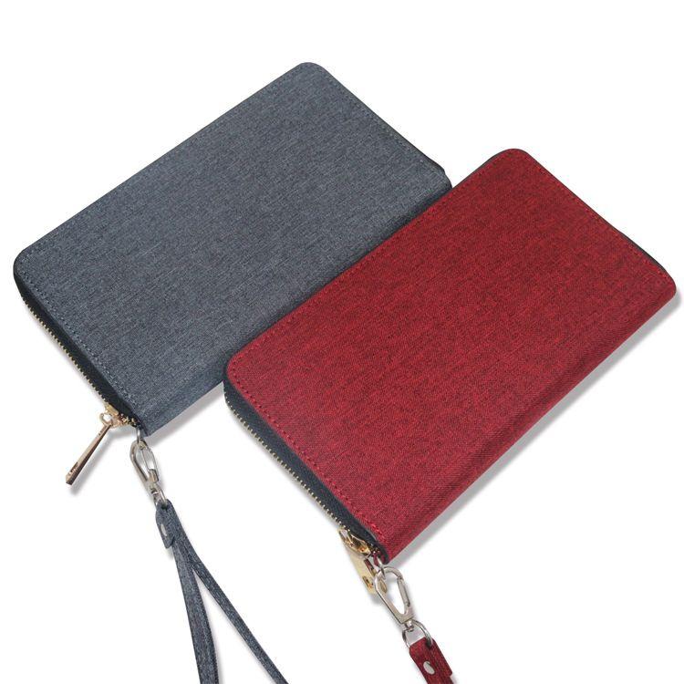 厂家直销多功能男女手拿包韩版商务钱包可充电手机钱包
