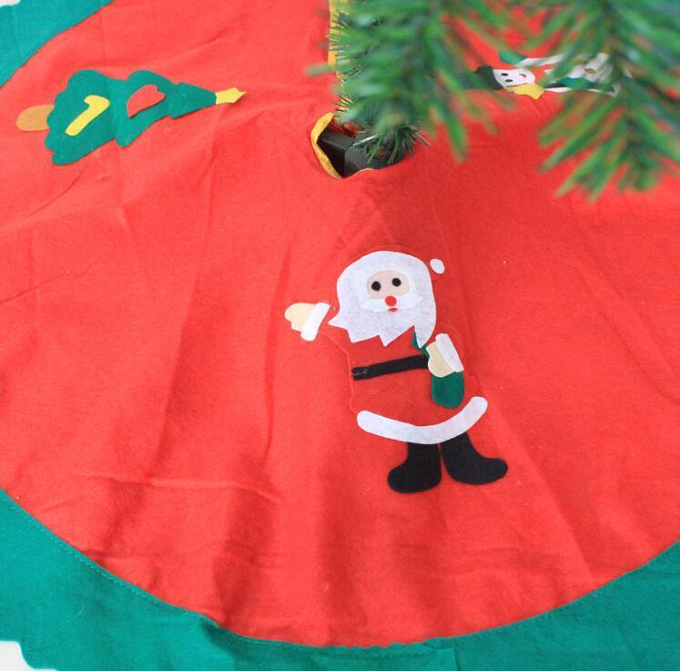 厂家直销圣诞树装饰品无纺布贴花老人雪人圣诞树裙圣诞节布置用品