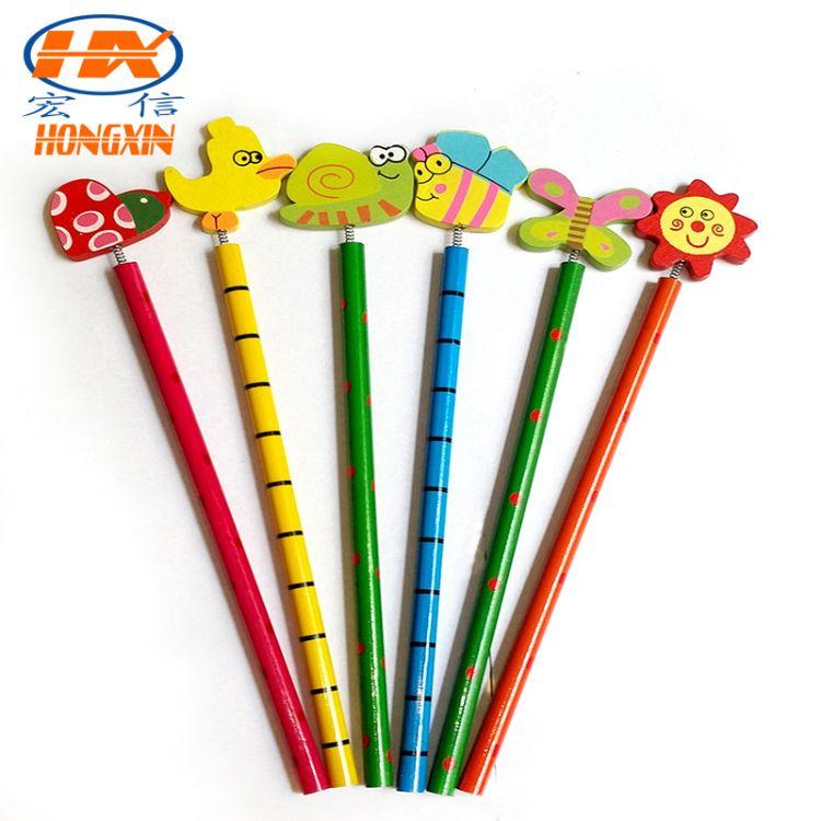 厂家直销韩国文具礼品可爱卡通创意木质铅笔定制特价批发活动铅笔