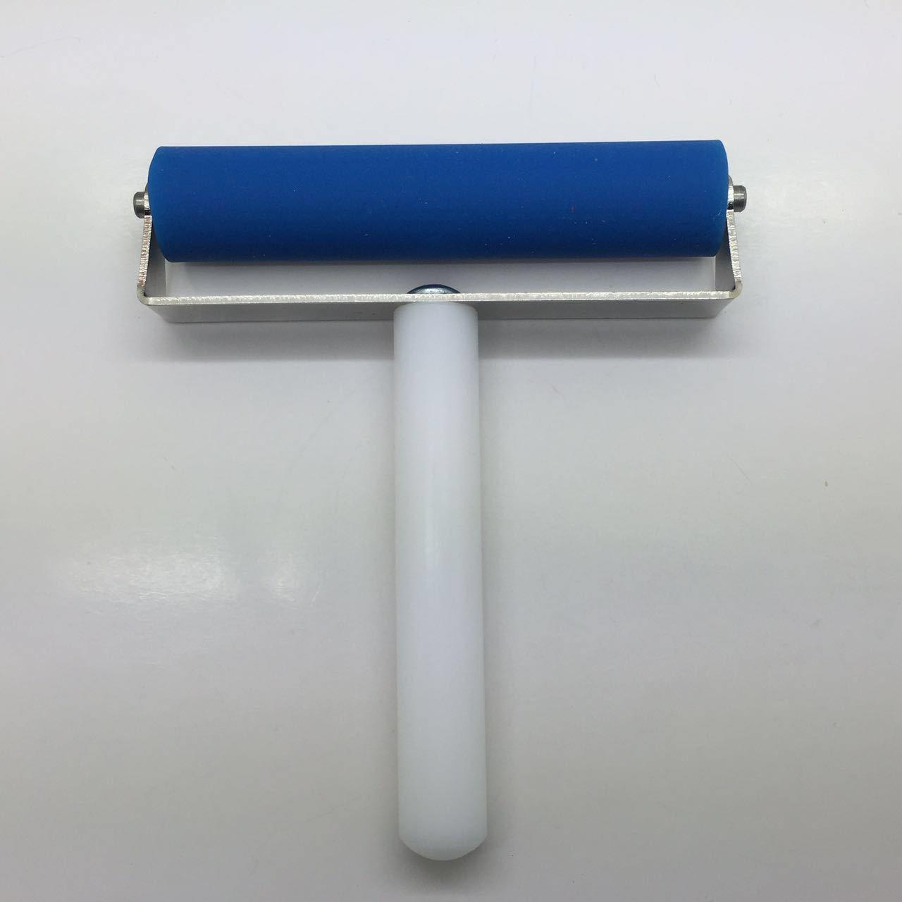 不锈钢蓝色推轮蓝色滚轮平板贴膜推轮贴膜神器手机贴膜推轮