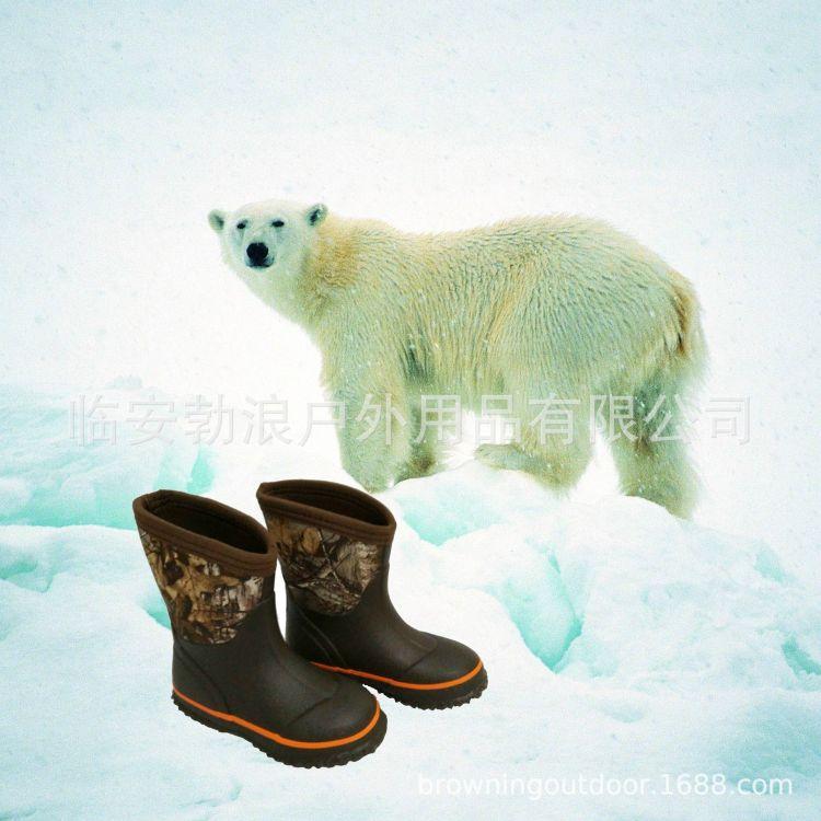 雨鞋 雪地靴  迷彩雨靴 牛勃朗雨鞋 牛勃朗男女迷彩雪地靴