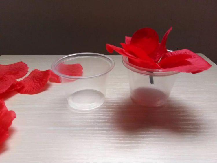 透明塑料杯 厂家直销批发一次性调料试饮杯蜡烛摆图套餐防风杯