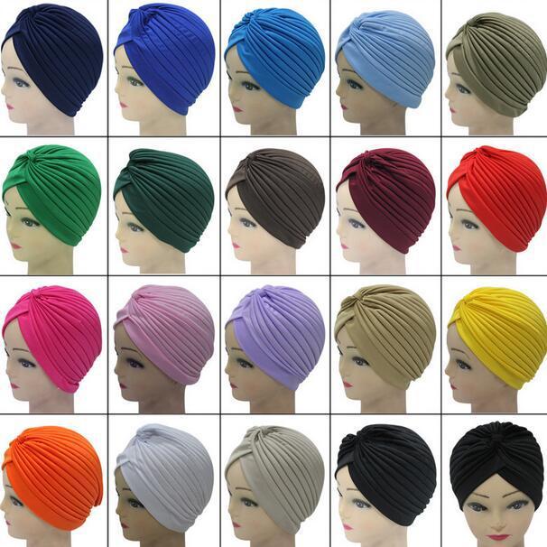 宾久欧美爆款热销出口穆斯林头巾帽子民族 条纹 无檐 印度 包头帽