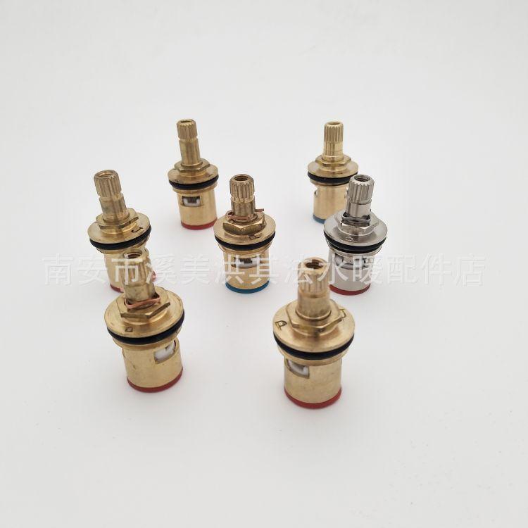 厂家直销水龙头配件铜阀芯水龙头快开仿不锈钢电镀铜阀芯95瓷片