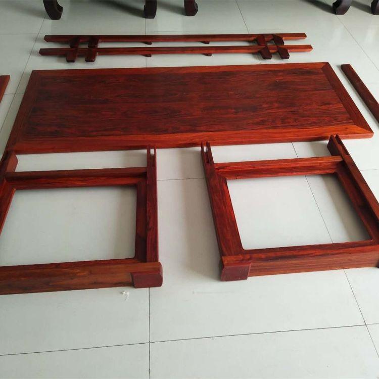 厂家直销  赞比亚血檀活拆活拿画案 实木书法桌写字台 红木家具