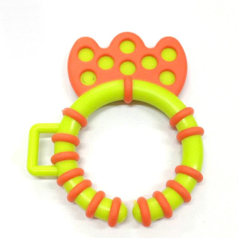 圣恩 新款婴儿鱼形牙胶玩具 鱼尾挂宝宝玩具