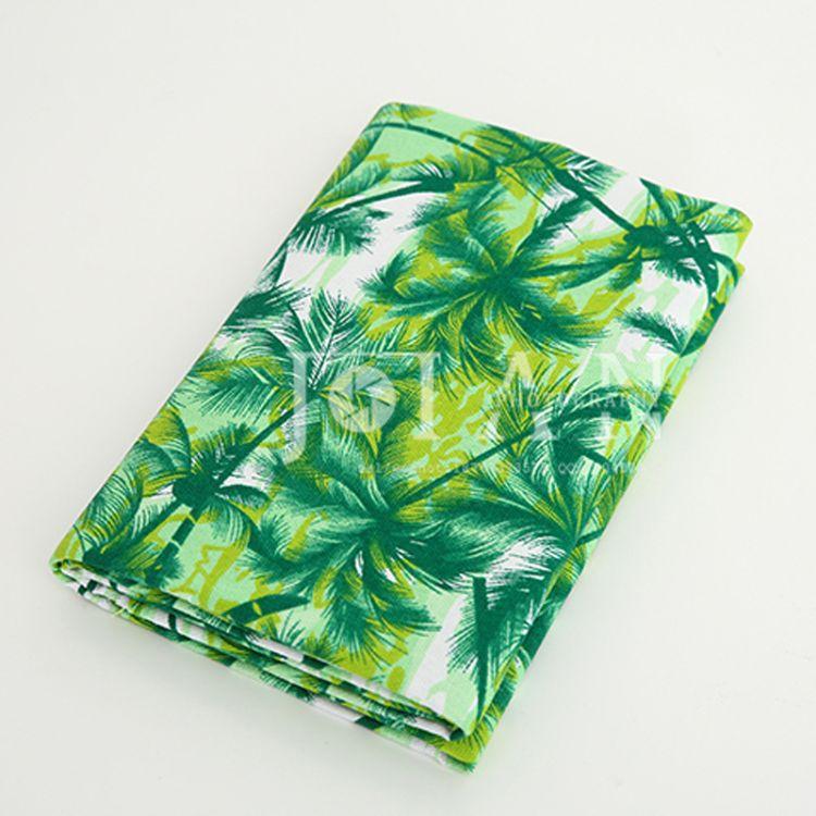 小叶子加厚棉帆布 纯棉印花沙发套布料现货 家居抱枕桌布厂家批发