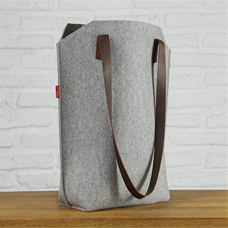 厂家定制毛毡布手提袋创艺欧美时尚毛毡袋手提毛毡布袋专业定制