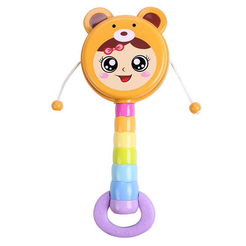 春天宝宝 婴儿拨浪鼓玩具卡通十二生肖系列新生宝宝摇铃玩具