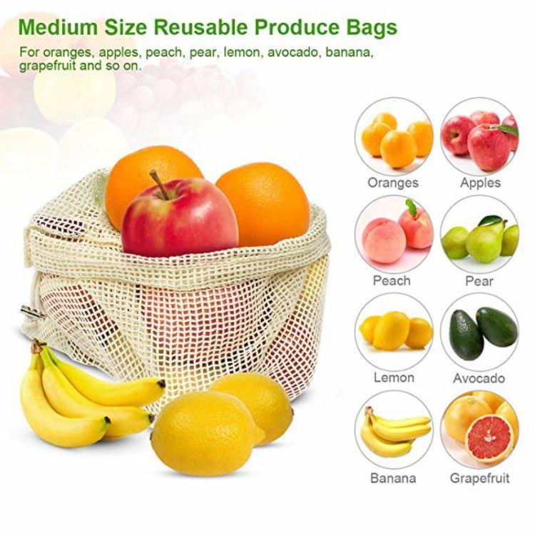 棉网眼束口水果包装袋