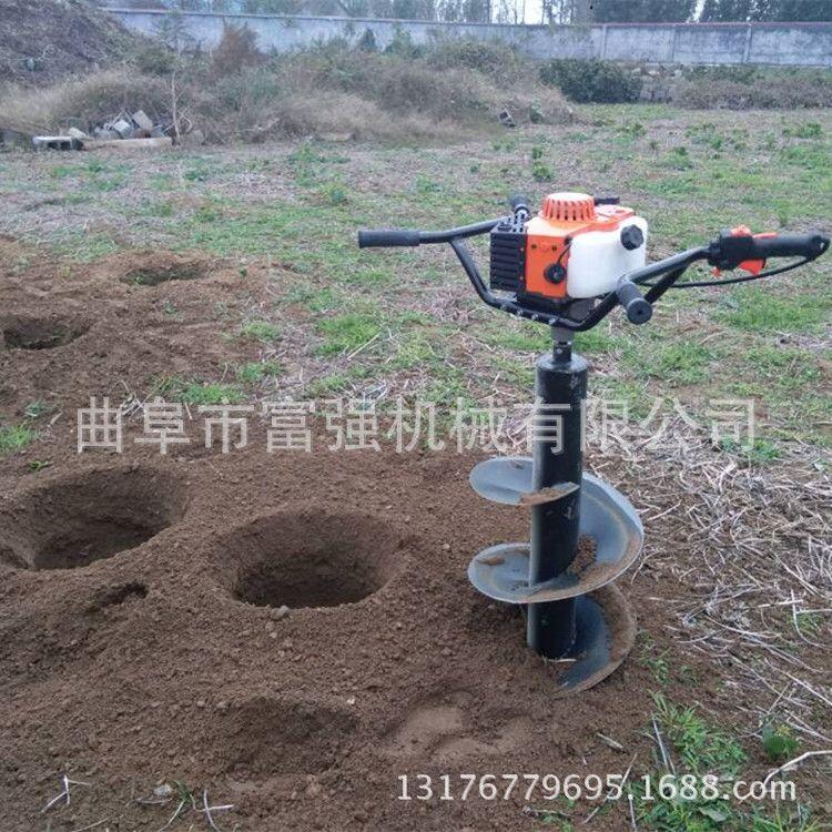 荒山荒地挖坑机  便携式挖坑机批发 厂家  3.8马力土壤挖坑机