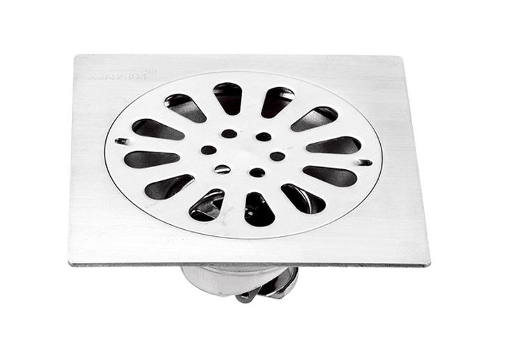 不锈钢3厘加厚翻板防臭隔臭地漏 卫生间浴室洗衣机专用地漏三通
