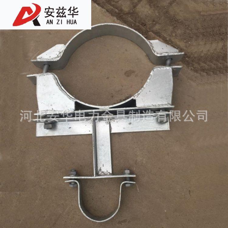 厂家专业生产热镀锌电力抱箍 电力横担热镀锌扁铁抱箍 现货供应