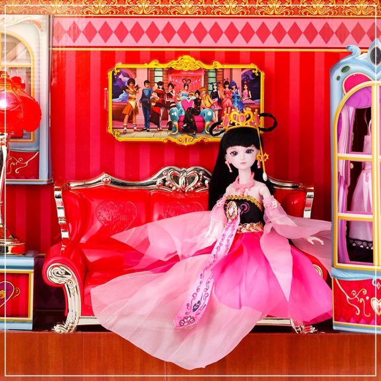 叶罗丽娃娃正品仙子梦幻衣橱大沙发灯光过家家公主女孩玩具大礼盒